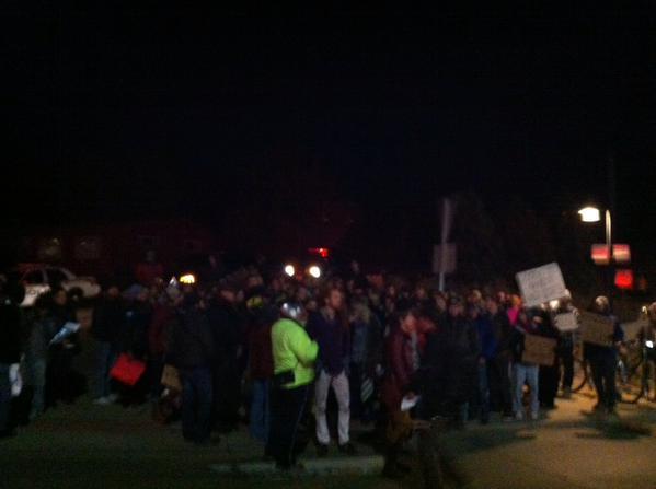 Protesters in Boulder are out.  ShutItDown  BlackLivesMatter
