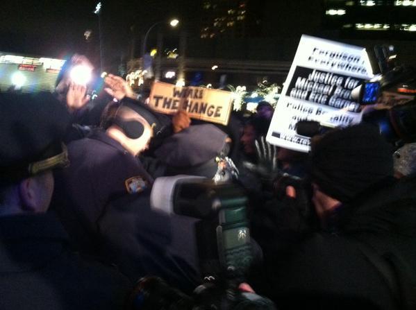 ShutItDown Barclays Center scuffle arrest
