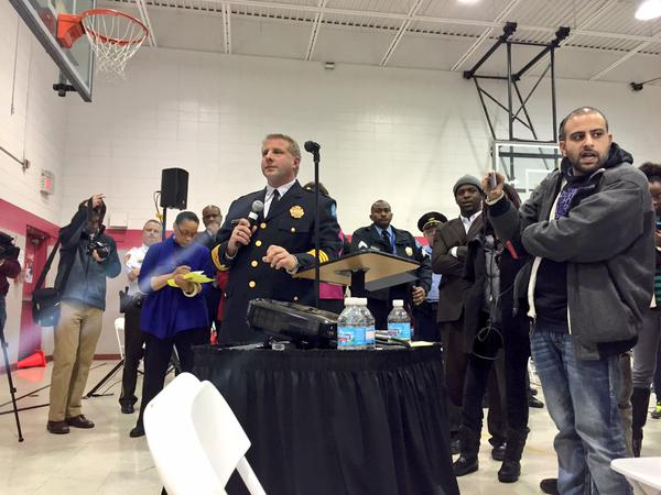 @ChiefSLMPD saying all applicants are tested psychologically. Lady says: u test for racism?
