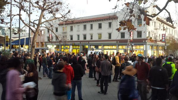 About 100 folks here right on time. Berkeley, CA