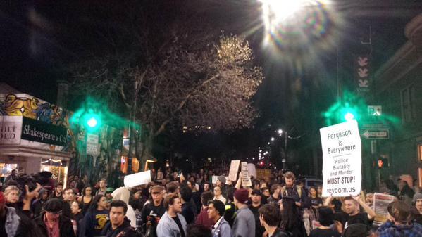 5 blocks whole street shoulder to shouldern Berkeley, CA