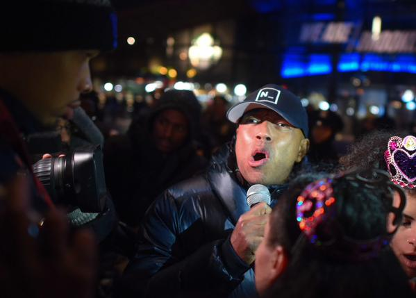 @UncleRush during the EricGarner protest at the Barclays