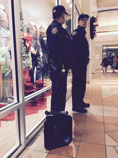 NYPD with an LRAD in Atlantic a Terminal Mall. ICantBreathe EricGarner
