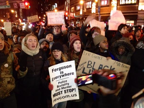 Brooklyn NYC protesters marching back to Barclays