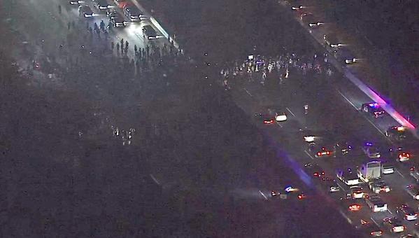 Protestors shut down both lanes of I80 in Berkeley