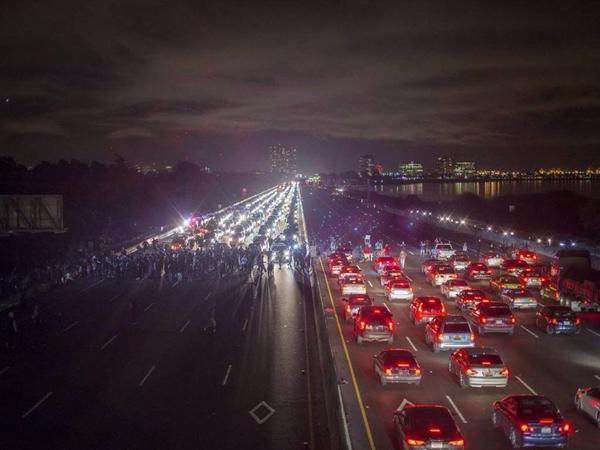 Simultaneously shutting down the I-80 in both directions, pedestrian bridge & Amtrak in Berkeley