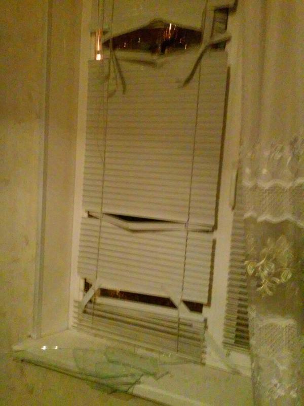 Consequences of shelling in last evening in Donetsk