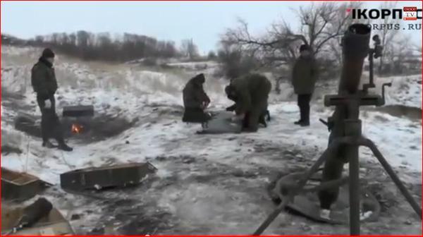 Russia army in Novoazovsk Ukraine near Mariupol