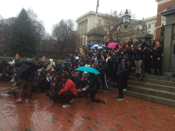 Students from Middlesex high school walked out today in Boston for EricGarner