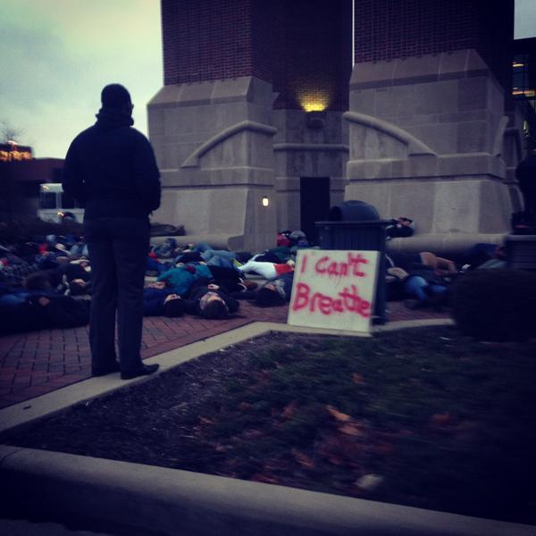 EricGarner Protests begin at Ball State University