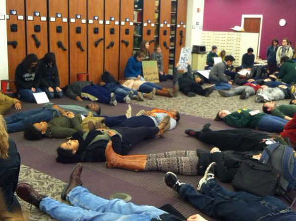 Students at @williamandmary held protest for EricGarner and MichaelBrown