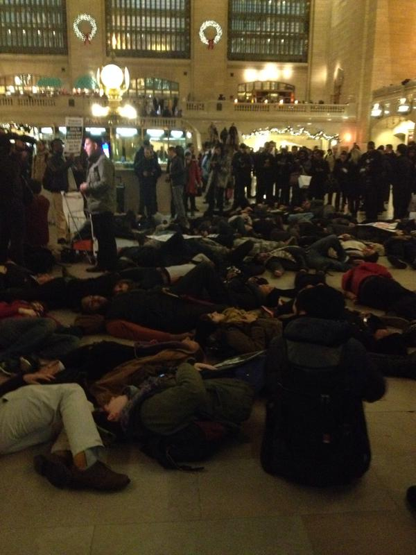 Die-in happening now at Grand Central in NYC