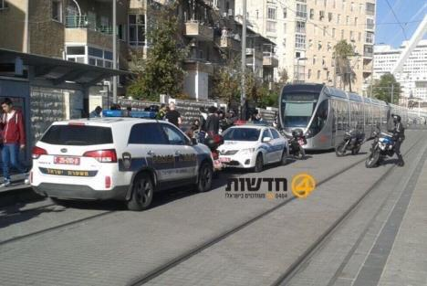 Jerusalem - Arab arrested at light trail station, after refusing to identify himself & attacked security guard.