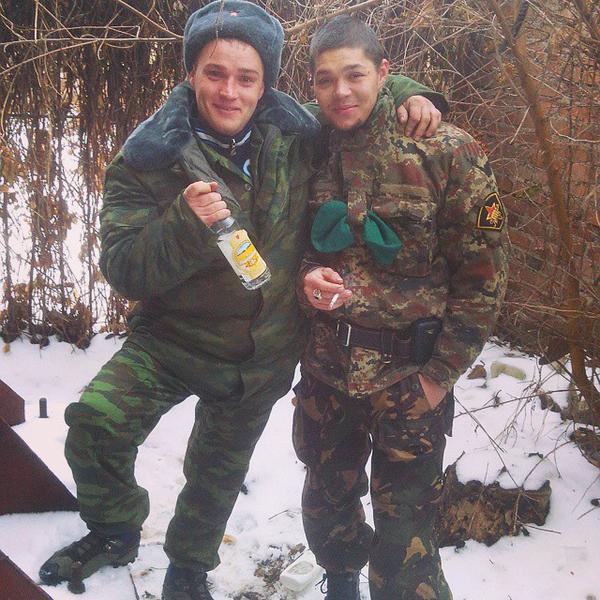 Ordinary Russian soldier in ATO