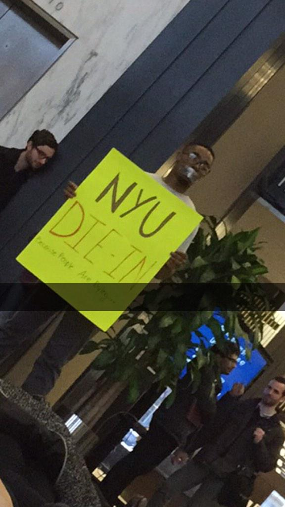 New York University die-in