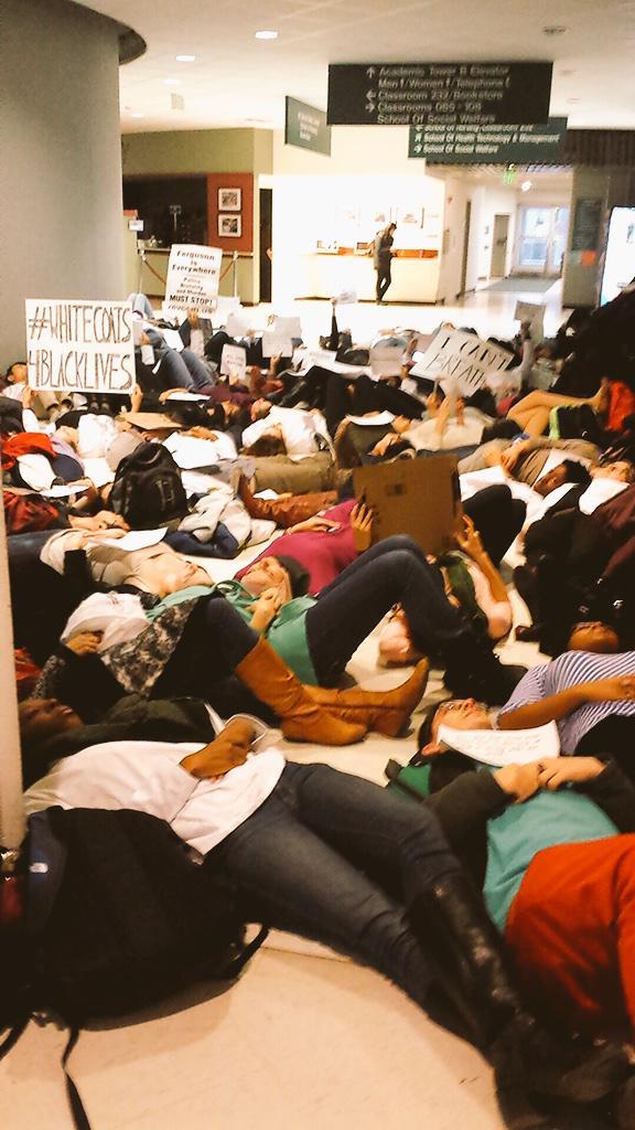 Protest at Stony Brook University hospital
