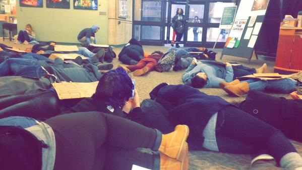 Holyoke Community College in solidarity with police sanctioned violence across the world