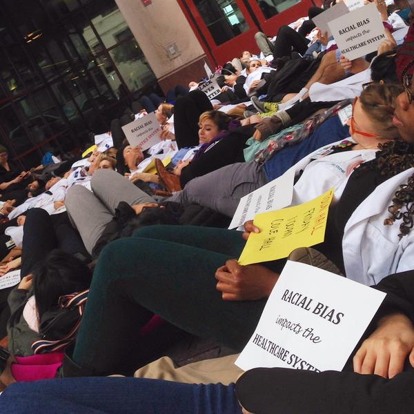 Today's die-in, University of California, San Francisco