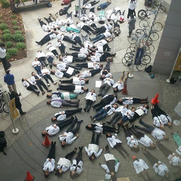 whitecoatsforblacklives in University of California, Davis