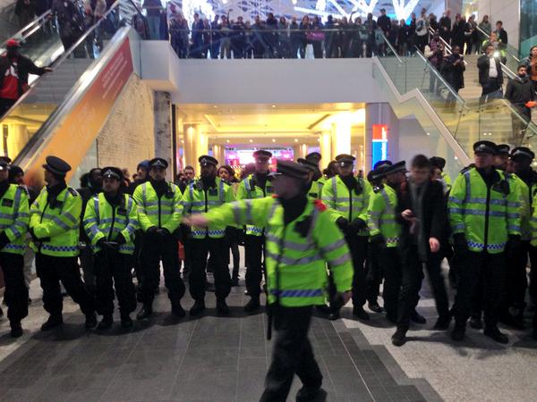 Police at protests in Westfield