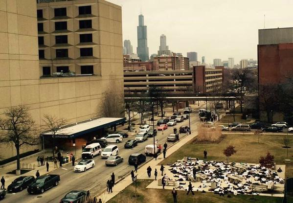 Protest At University of Illinois at Chicago Med