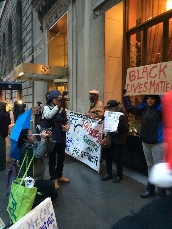 Protesting at the Manhattan Institute