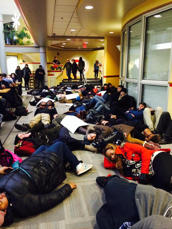 Die-in  in Rutgers Student Center