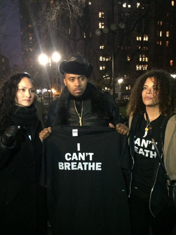 Shout out to @Nas for coming out and supporting ICantBreathe movement