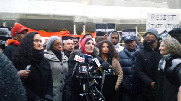 On humanrightsday, let's look at our own human rights violations -@LSarsour at EricGarner rally