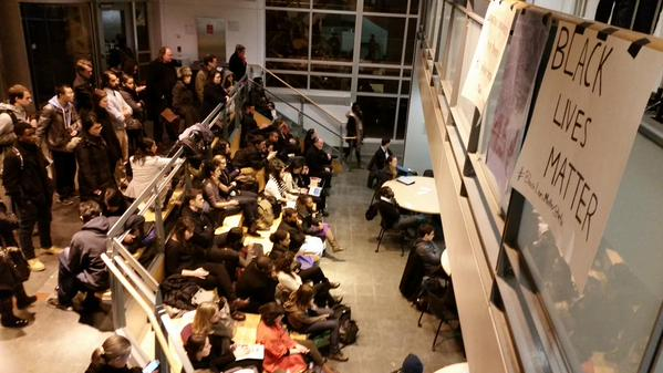 Overflow audience hearing @MIT community discussion on BlackLivesMatter