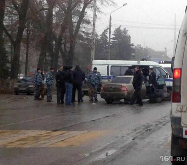 The road from Rostov-on-don was blocked because of reports of terrorist