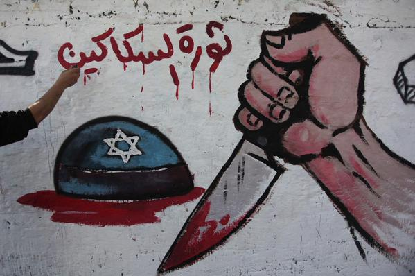 Hamas celebrates 27th anniversary today in Gaza with new wall paintings celebrating murder of Jews.