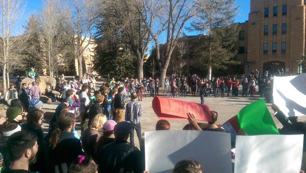 A rally against police brutality to at University of Wyoming