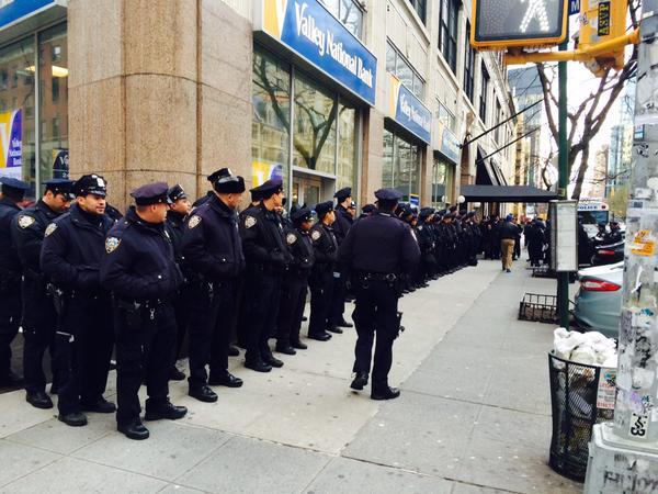 Police at 4th Avenue, NY
