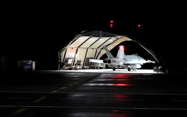 CF-18 night training at Siauliai, Lithuania
