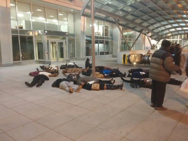 Die-in in front of Shaw Metro Station, Washington, DC