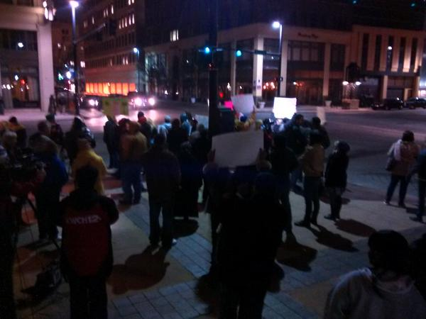 Wichita ICantBreathe HandsUpDontShoot about 60 strong, about to match