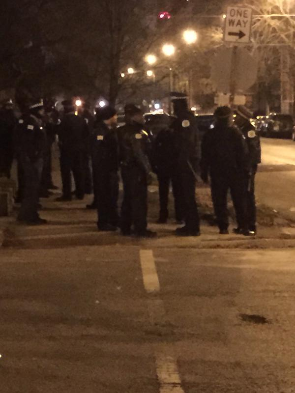 Chicago police working hard. 53rd and University