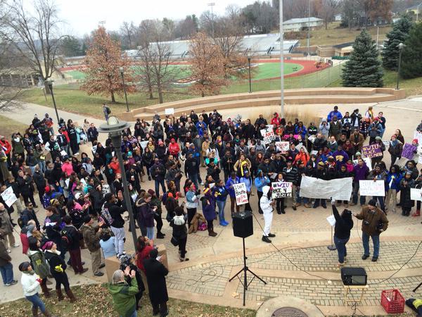 Rally is beginning in Western Illinois University