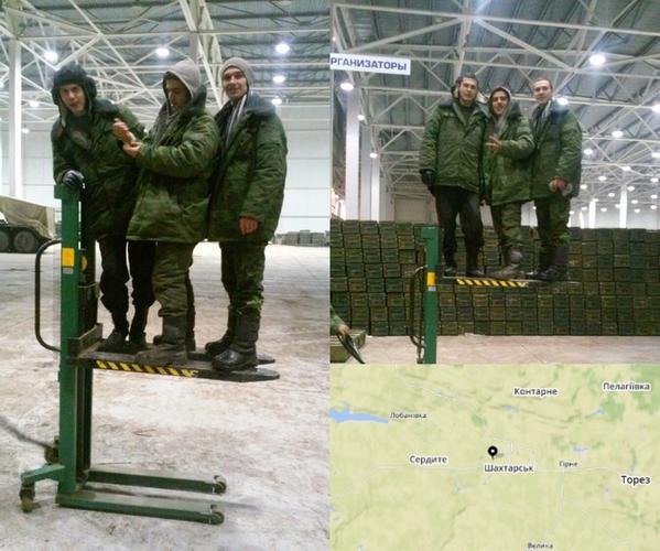 Russian militants in Shakhtarsk