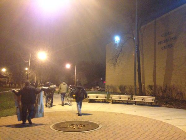 Protest back at Cudell Recreation Center