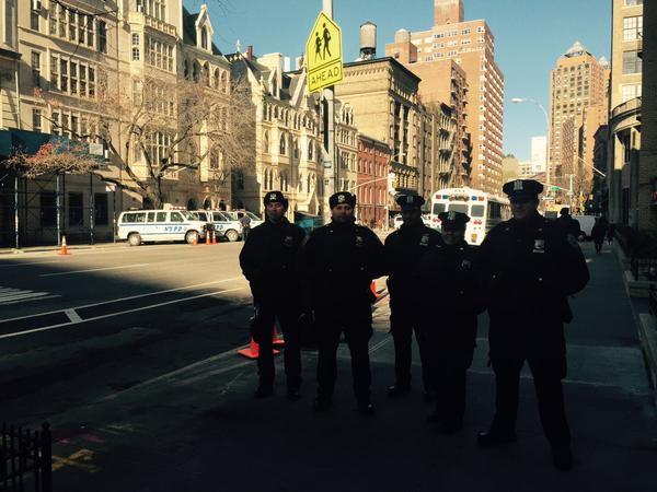 Cops getting ready & mounting (in big numbers) for 'Justice For All' Rally in NYC