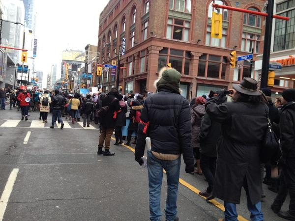 ICantBreathe march in Yonge Street, Toronto, ON, Canada
