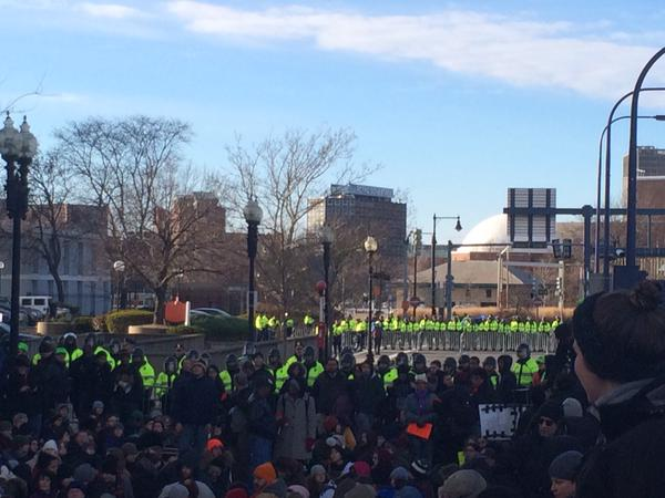 Boston and State police have impeded the march MillionsMarchBoston