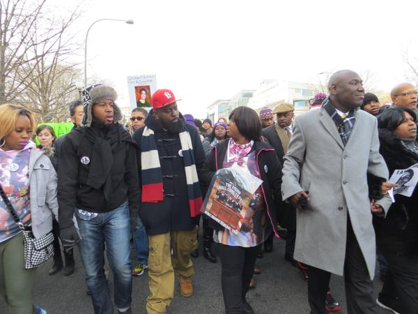 MikeBrown's dad, @attorneycrump   at MillionsMarch in DC