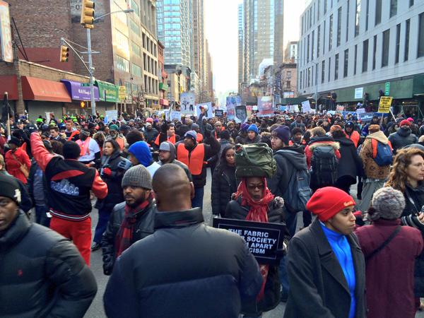NYPD says there's 50,000 to 60,000 protestors right now in NYC MillionsMarchNYC