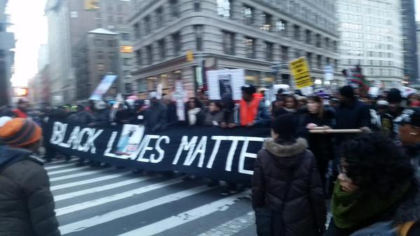 Front of the MillionsMarchNYC on 23rd and Broadway
