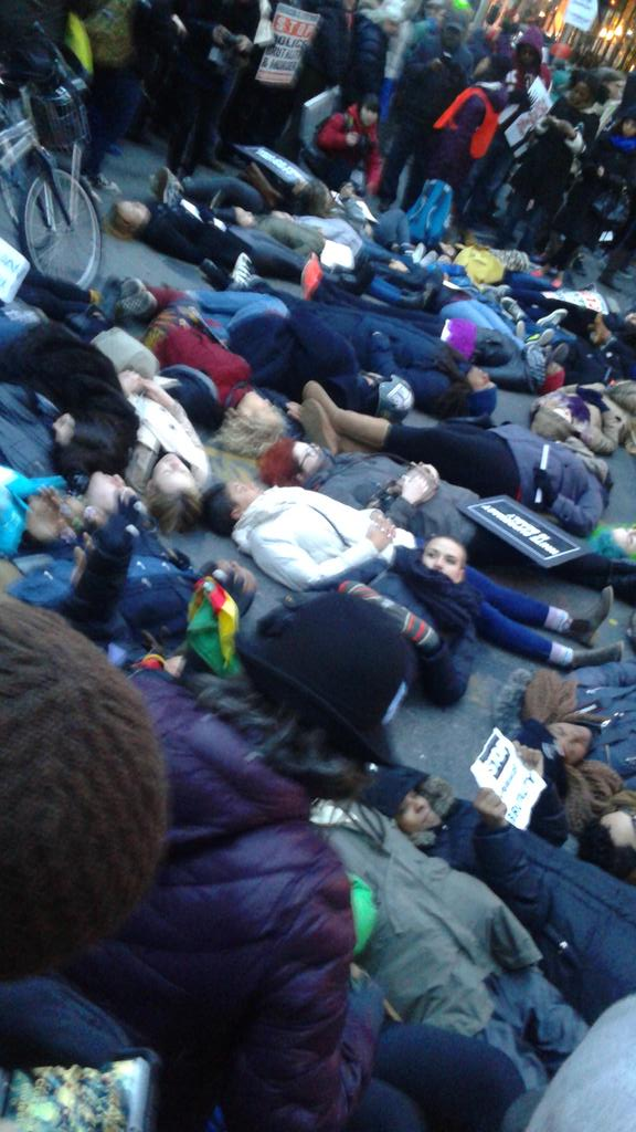 Die in happening at 21st and Broadway MillionsMarchNYC