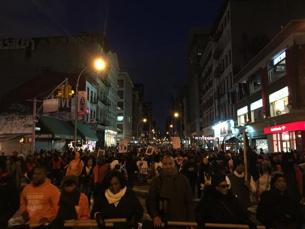 Crossing Canal street heading downtown through Broadway. MillionsMarchNYC
