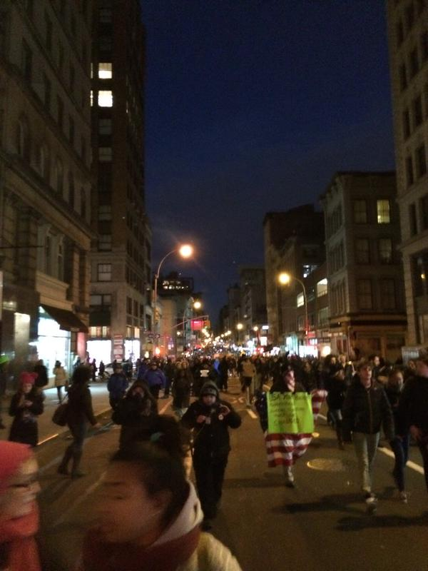 MillionsMarchNYC at Broadway and  White Street